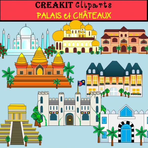 Cliparts CréaKits Palais et Châteaux