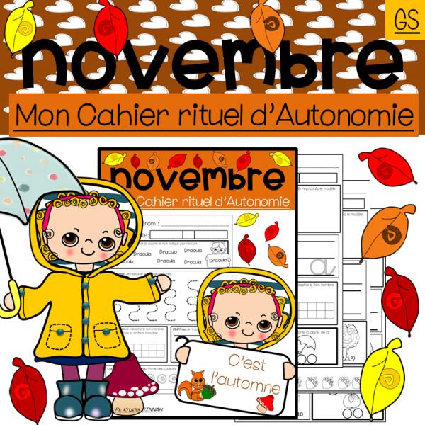Mon Cahier d'Autonomie Novembre Grande Section