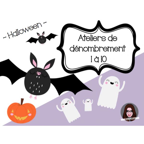 Ateliers de dénombrement Halloween 1 à 10