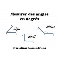 Mesurer des angles en degrés