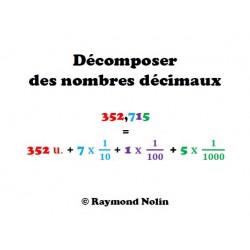 Décomposer des nombres décimaux