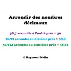 Arrondir des nombres décimaux