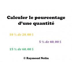 Calculer le pourcentage d'une quantité
