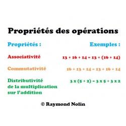 Propriétés des opérations