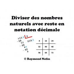 Diviser des nombres avec reste en décimales