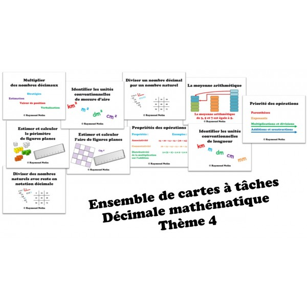Cartes à tâche Décimale6-Thème4