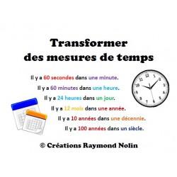 Transformer des unités de mesure de temps