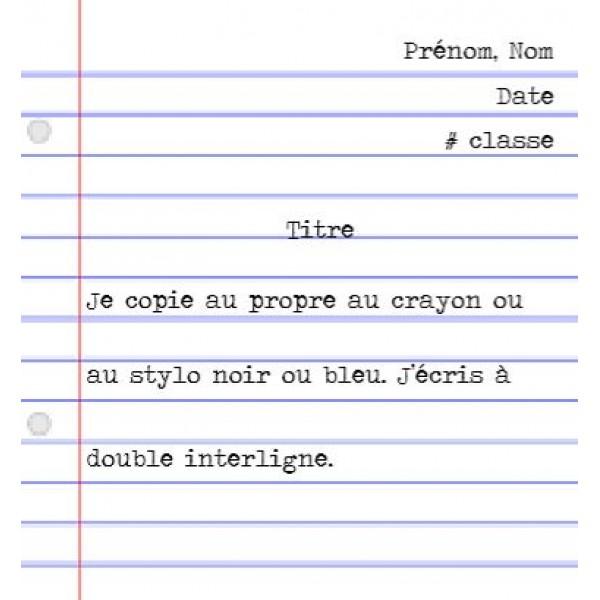 Directives rédaction au propre