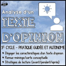 Analyse d'un texte d'opinion