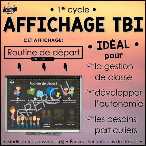 ROUTINE DE DÉPART - Affichage TBI