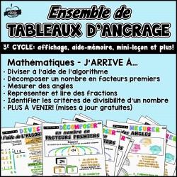 TABLEAUX D'ANCRAGE - Mathématique 3 cycle