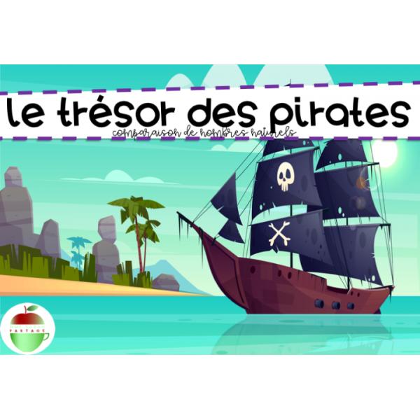 Le trésor des pirates (Numération - Comparer)