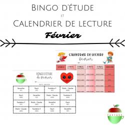 Bingo d'étude + Calendrier de lecture (Février)