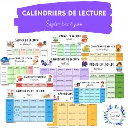 Calendriers de lecture - Septembre à juin