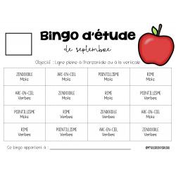 Bingos d'étude 20-21