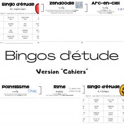 Bingos d'étude - Version Cahiers