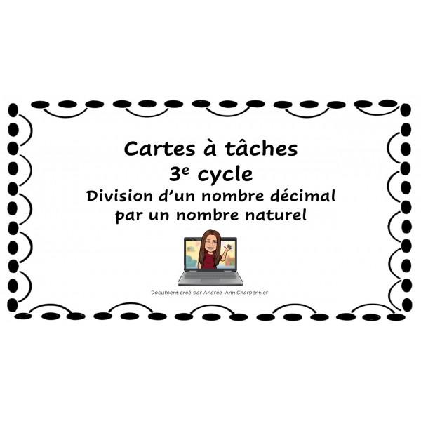 CAT: division d'un nb décimal par un nb naturel