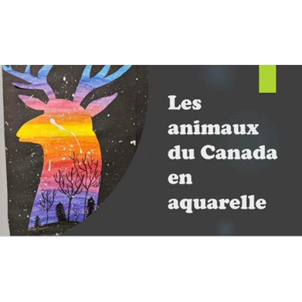 Les animaux du Canada en aquarelle