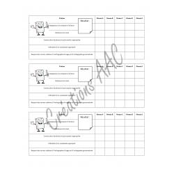 Mini grille d'évaluation en écriture