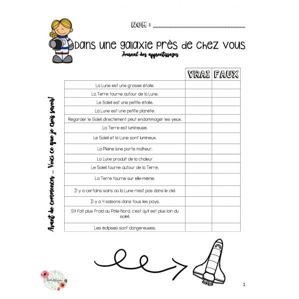 Système solaire - Document d'apprentissage