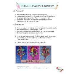 Arts Plastiques - Les feuilles de Kandinsky