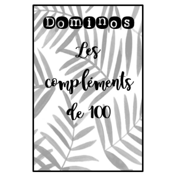 Dominos - compléments de 100 noir et blanc