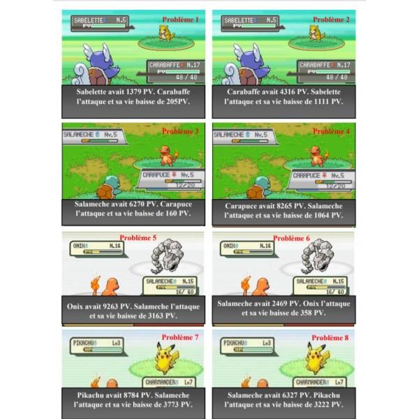 Défis soustractions Pokémon et autres