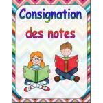 Consignation des notes