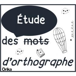Étude des mots d'orthographe