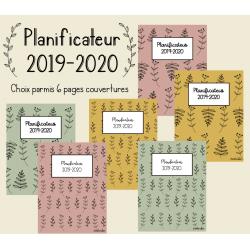 Planificateur 2019-2020 Fleurs