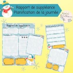 Rapport de suppléance / planif journalière HIVER
