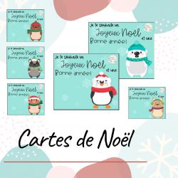 Cartes souhaits de Noël