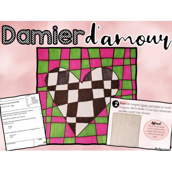 Damier d'amour - arts et bricolage
