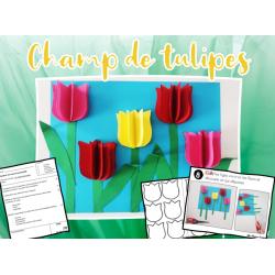 Champ de tulipes - arts et bricolage
