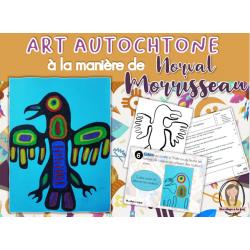 art autochtone à la manière de Norval Morrisseau