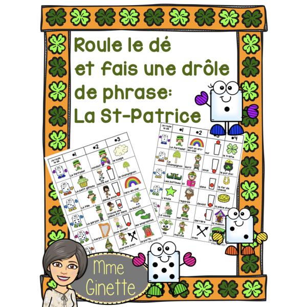 Roule le dé - La St-Patrice (PDF + Google Slide)