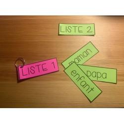 Listes de mots fréquents cahier sons