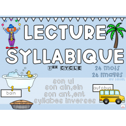 Lecture sons ain, ant, ui, syllabes inverses