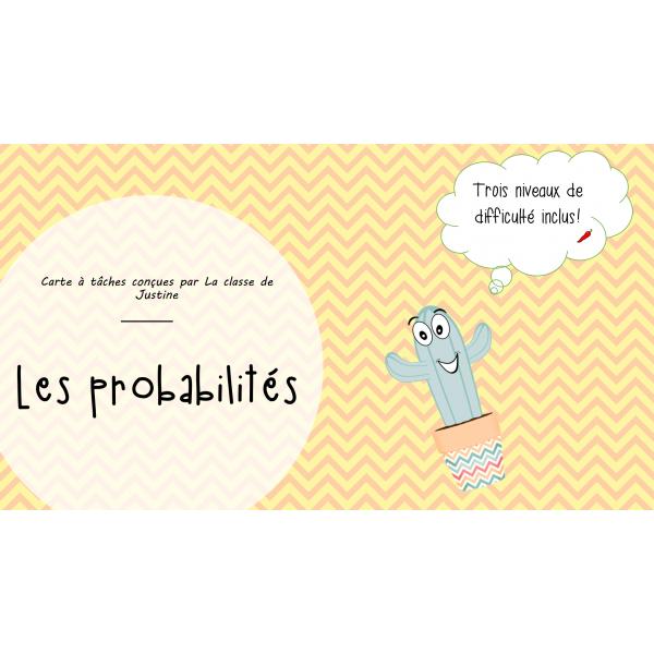 Cartes à tâches/ PROBABILITÉS