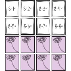 cartes éclair additions et soustractions 0 à 12