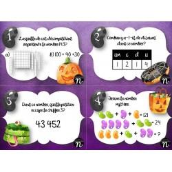 Cartes à tâches d'Halloween - mathématiques