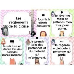 Affiches - 5 Règlements de la classe