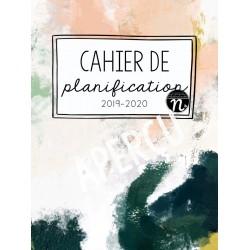 Cahier de planification couleur 2019-2020