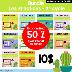 BOOM CARDS Les fractions – 3e cycle