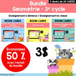 BOOM CARDS Géométrie - 3e cycle