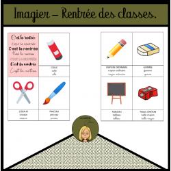 Imagier - Rentrée des classes
