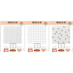 Tableau de 100 - carré de 100