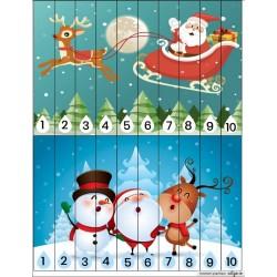Puzzle Noël 1-10