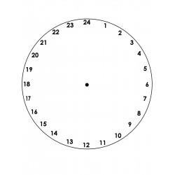 Horloge 24h