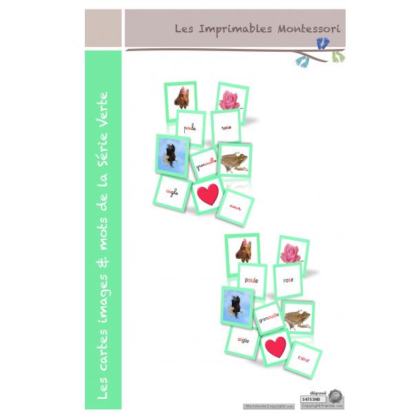 Série Verte : Les cartes images & mots SCRIPT